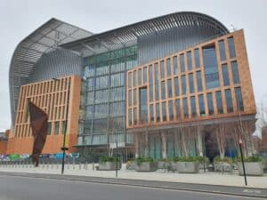 Photo of the Crick building by Daniel Hausherr