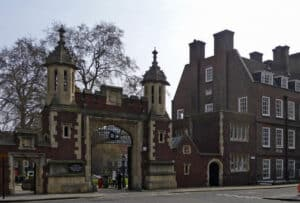 photo of the west gate of Lincoln's Inn by Christine Matthews
