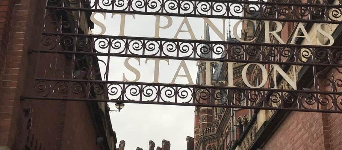 Entrance to St Pancras Station, (c) Sylvia McNamara, 2021