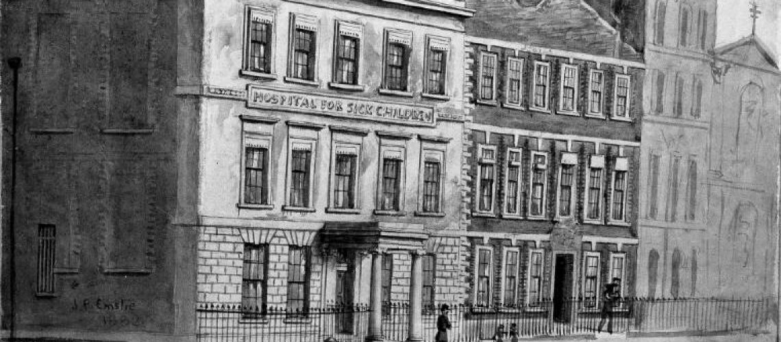Drawing of 49 Great Ormond Street 1882