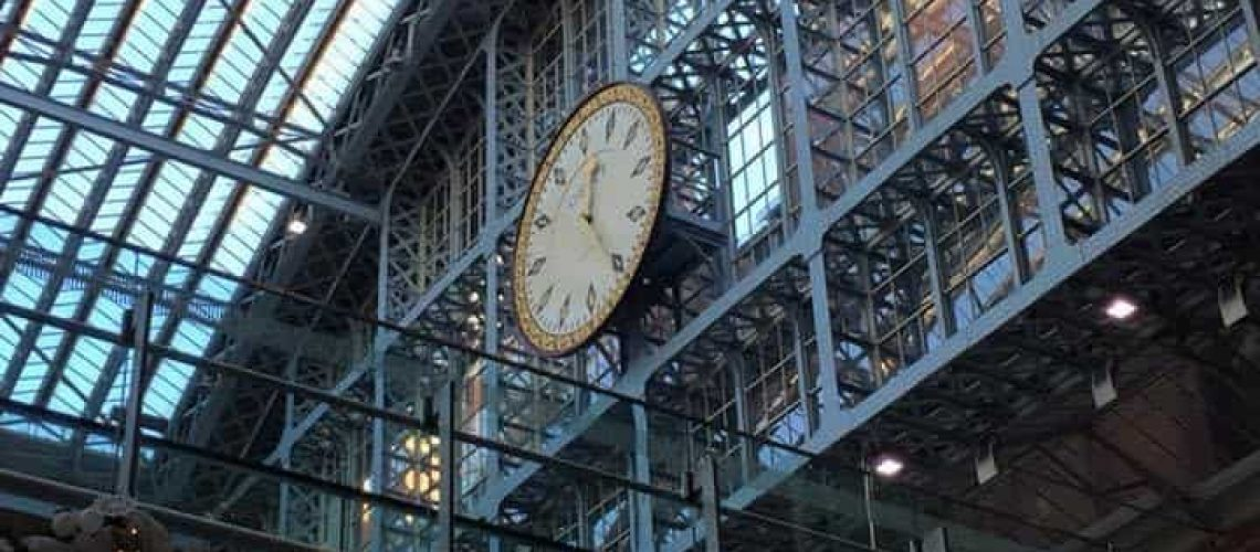 St Pancras Dent Clock By Jean